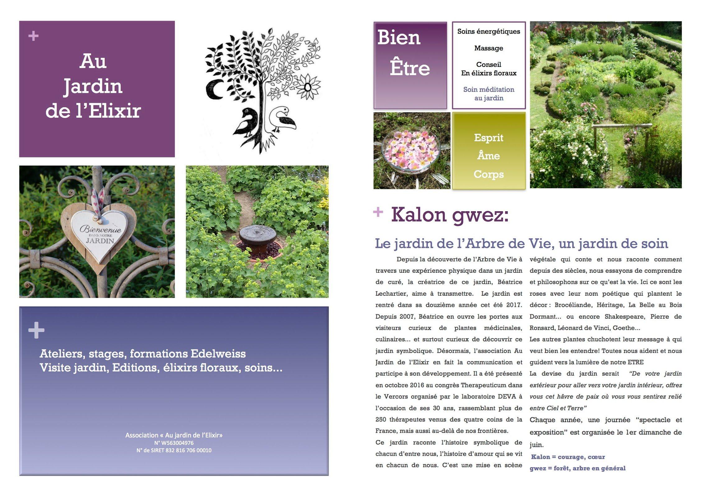 Brochure Au Jardin De LElixir 2018