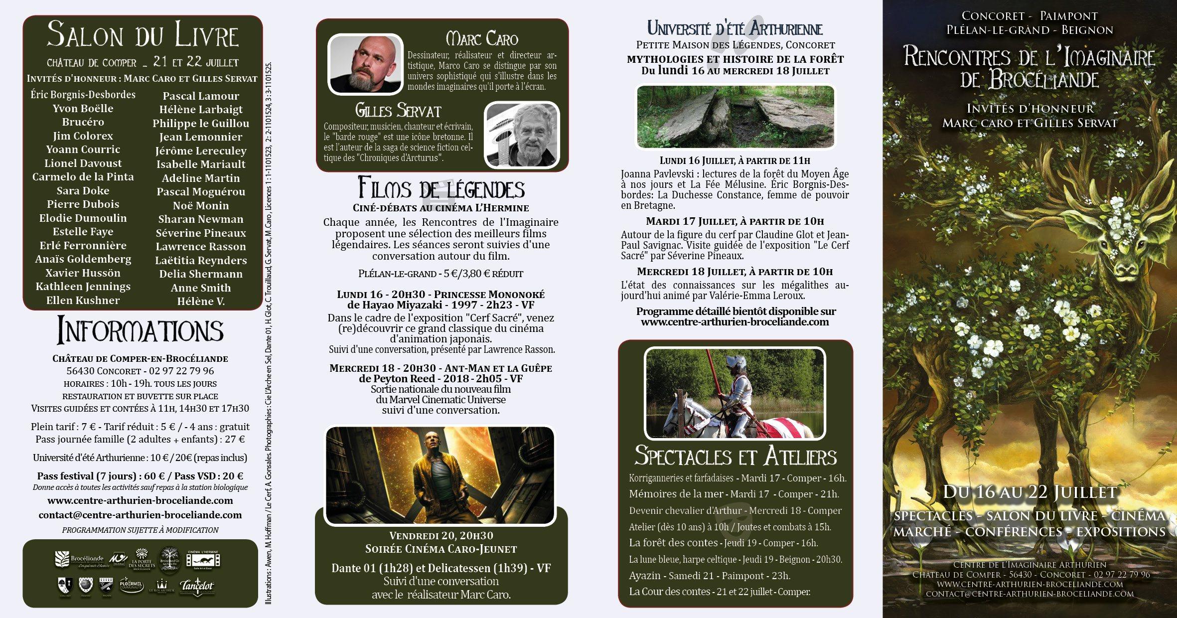 Rencontres brel programme 2018