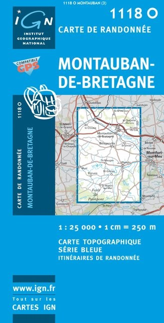 Carte Bretagne Randonnee.Carte De Randonnee Montauban De Bretagne 1118 Ouest Broceliande